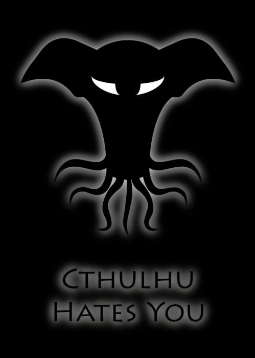 Cthulhu hates you Aufkleber